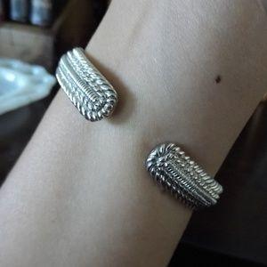 Judith Ripka Jewelry - Judith Ripka Cuff Bracelet 925 Silver Heart Zirco
